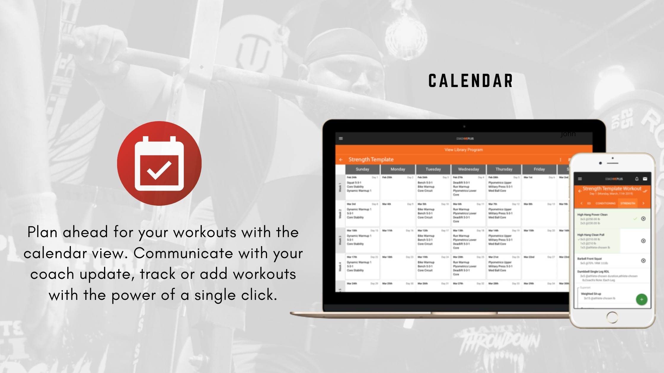 Plan your workouts ahead of time